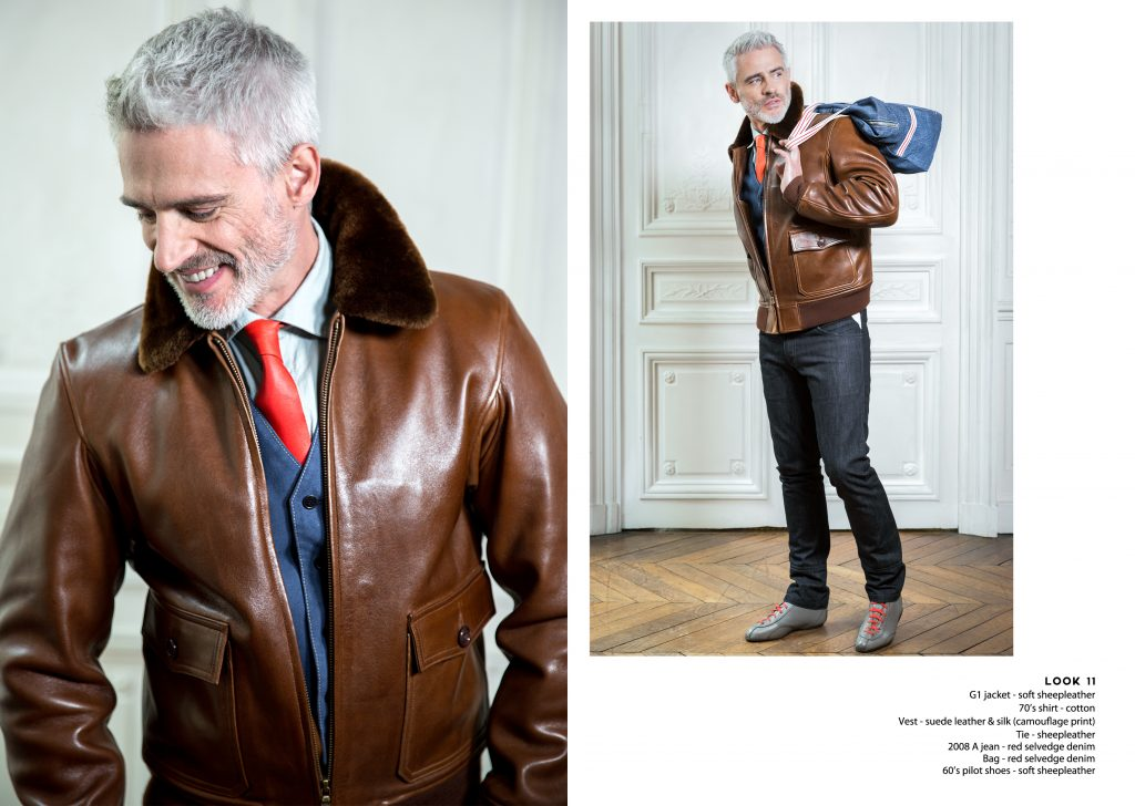Lookbook Spring Summer blouson aviateur flying jacket leather cuir qualité quality craftsmanship fait main artisanat hand made Made in france classic iconic iconique style mode fashion style