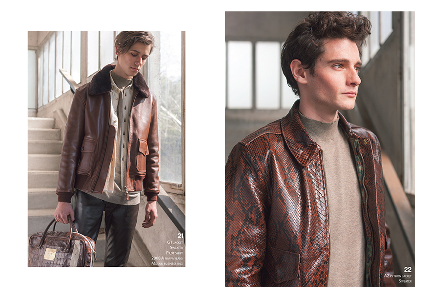 Lookbook CHAPAL Automne-Hiver 2019 nouvelle collection homme man classique qualité classic quality cuir leather python flying jacket blouson aviateur rare exclusif precious hand-made Made in France artisanal