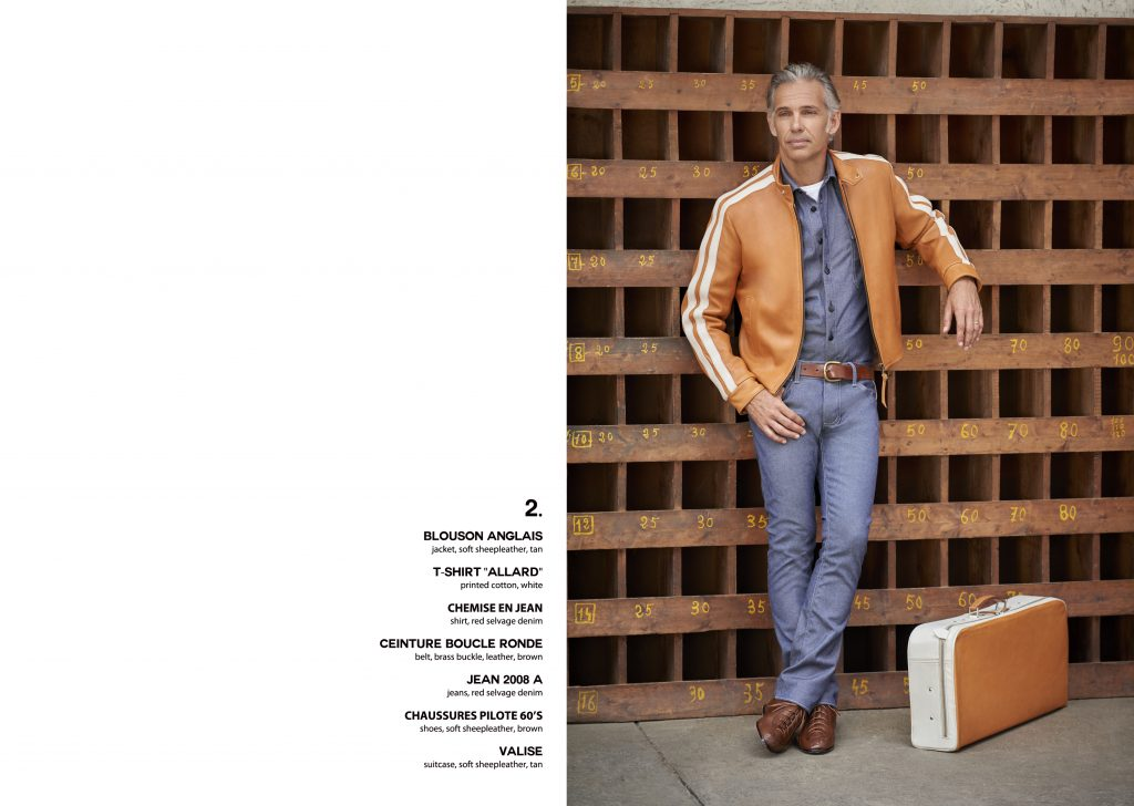 Lookbook Paul Belmondo leather cuir excellence gentleman driver blouson aviateur flying jacket sport casual chic quality qualité