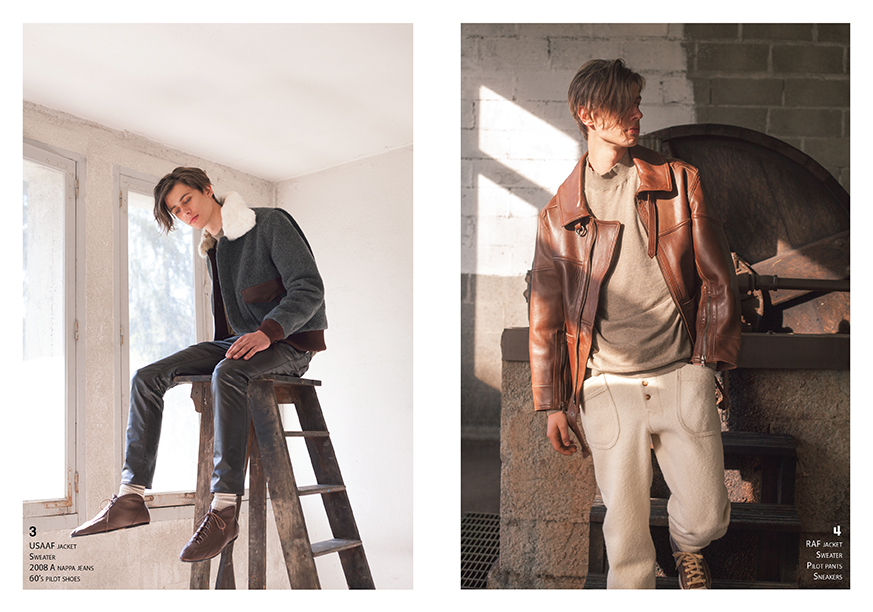 Lookbook CHAPAL Automne-Hiver 2019 nouvelle collection homme man artisanal Made in France hand-made qualité quality blouson aviateur flying jacket élégant leather cuir USAAF laine bouillie