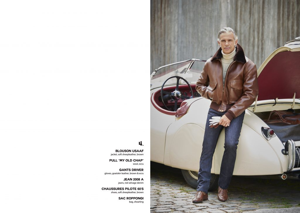 Lookbook Paul Belmondo leather cuir excellence gentleman driver blouson aviateur flying jacket brun quality qualité