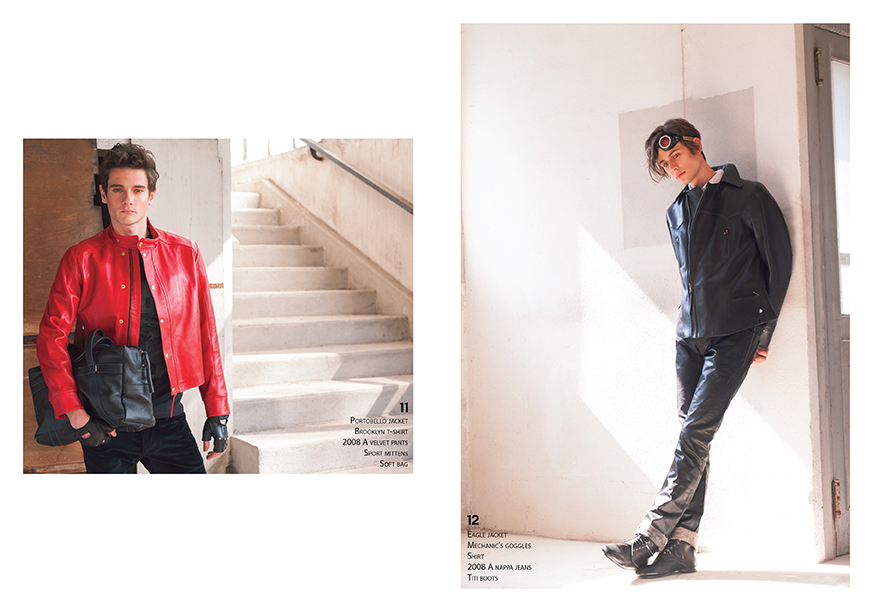 Lookbook CHAPAL Automne-Hiver 2019 nouvelle collection homme man artisanal Made in France hand-made qualité quality blouson aviateur flying jacket élégant leather cuir mitaines rouge perfecto sac maroquinerie