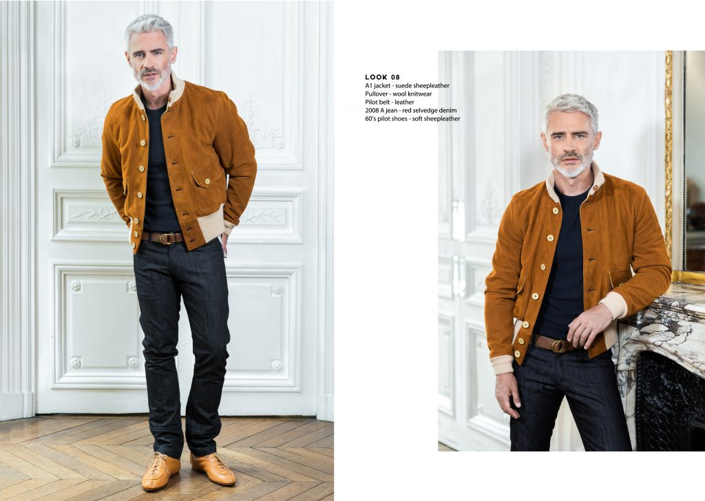 Lookbook Spring Summer qualité quality luxe luxury cuir leather casual chic gentleman dandy blouson aviateur flying jacket classic pilote