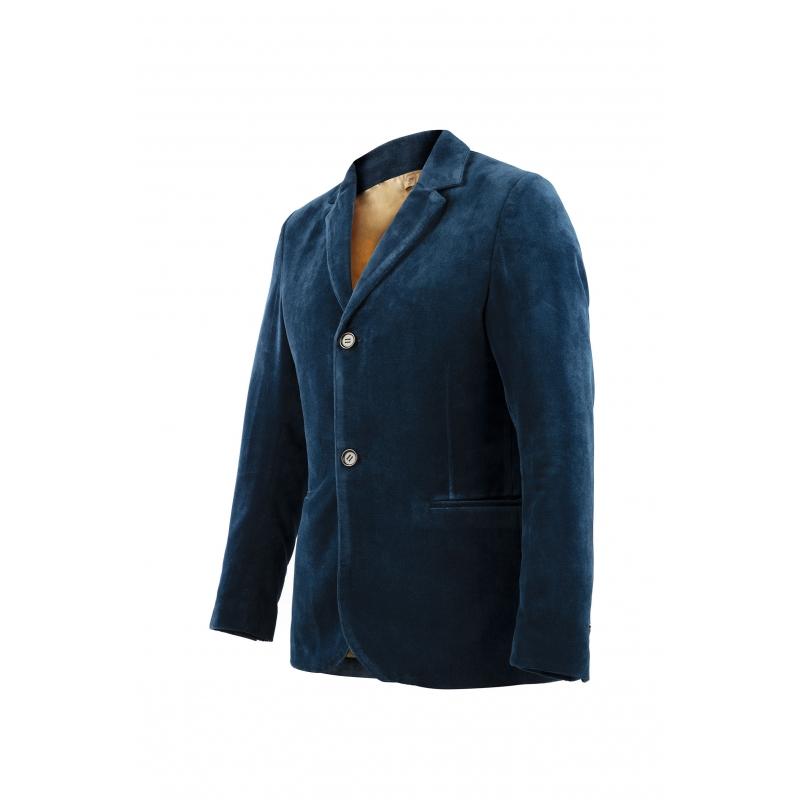 Blazer Velours Bleu