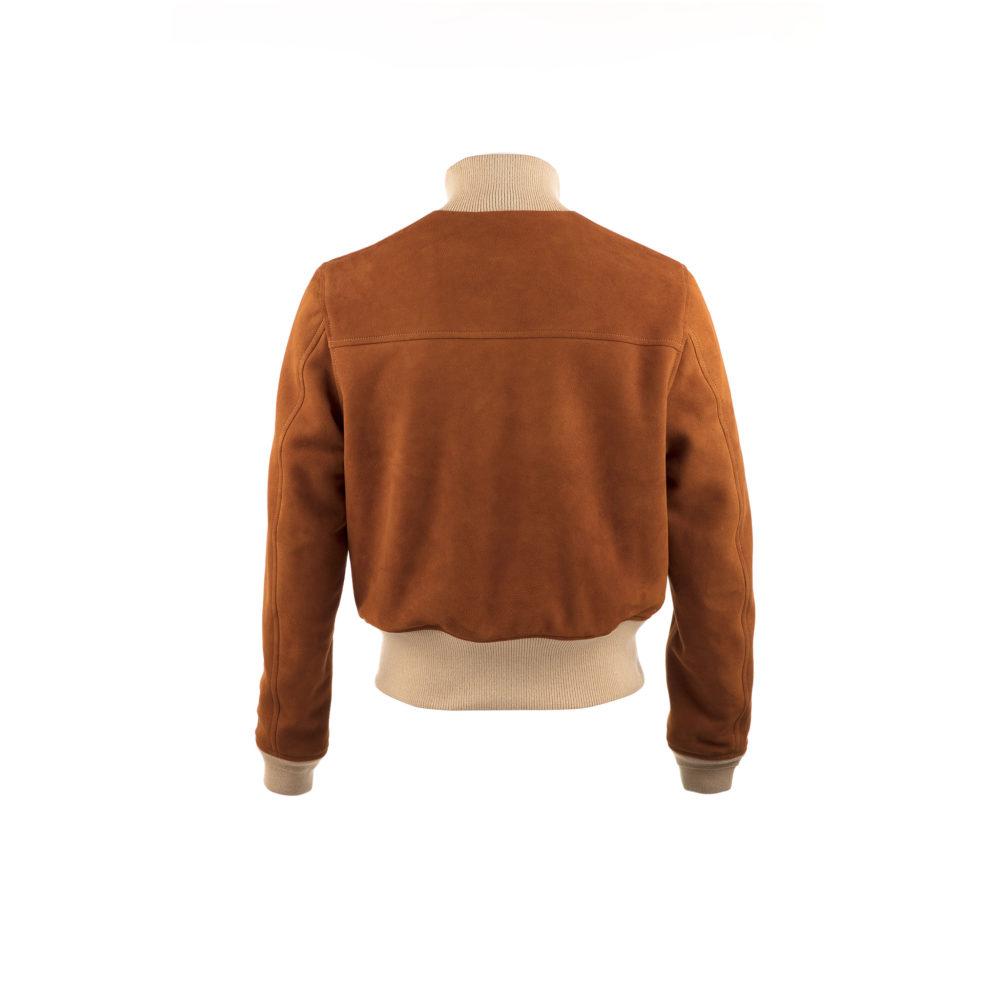 A1 Short Version Jacket - Suede leather - Suzy color