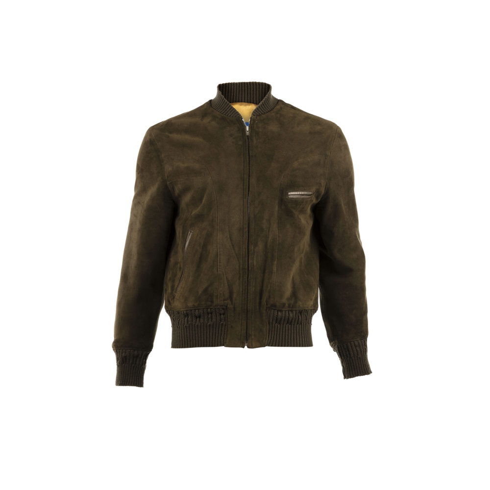 Brooklyn One Jacket - Suede leather - Green color