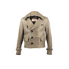 Peacoat Short Version Jacket - Glossy leather - Grey color