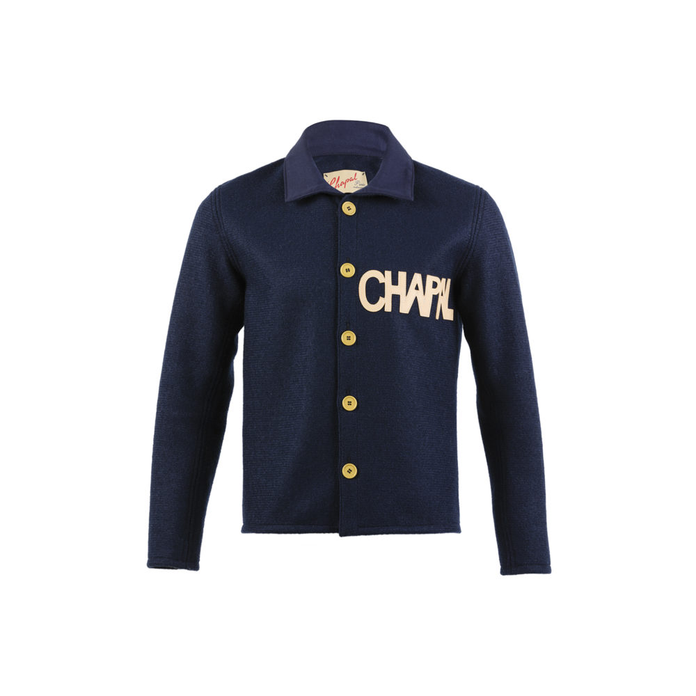 Cardigan - Merino wool - Blue navy color