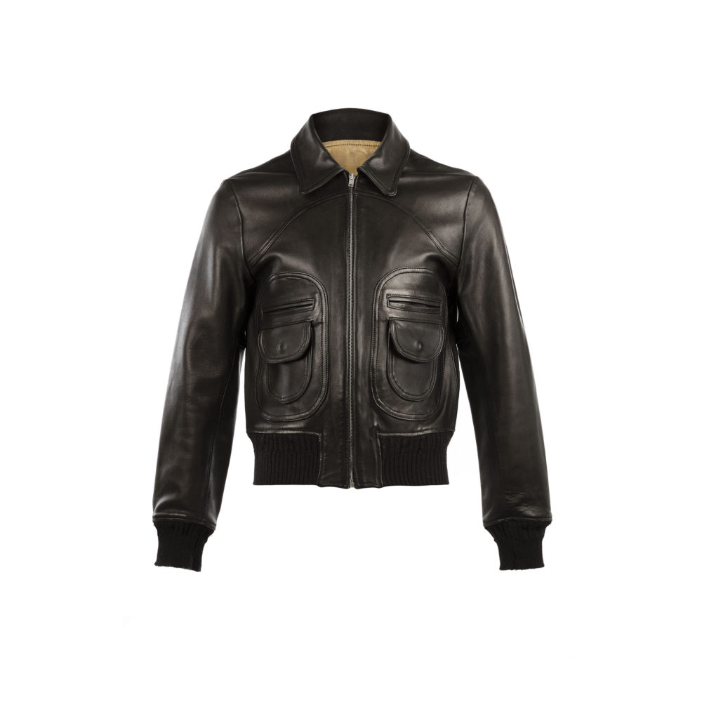 Brooklyn Disco Jacket - Glossy leather - Black color