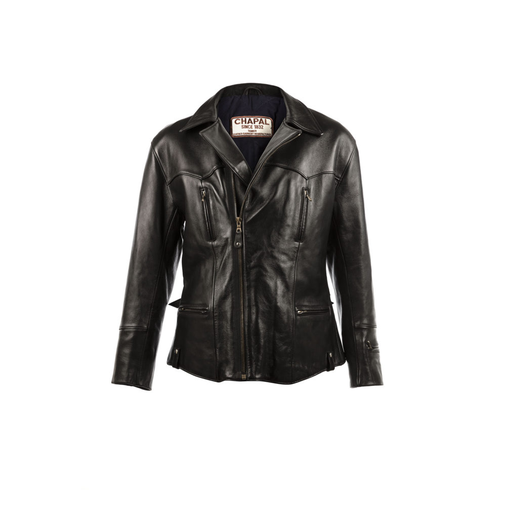 Eagle Jacket - Glossy leather - Black color