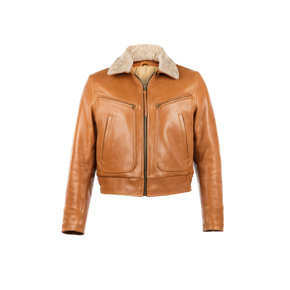 Roadster Jacket - Glossy leather - Tan color