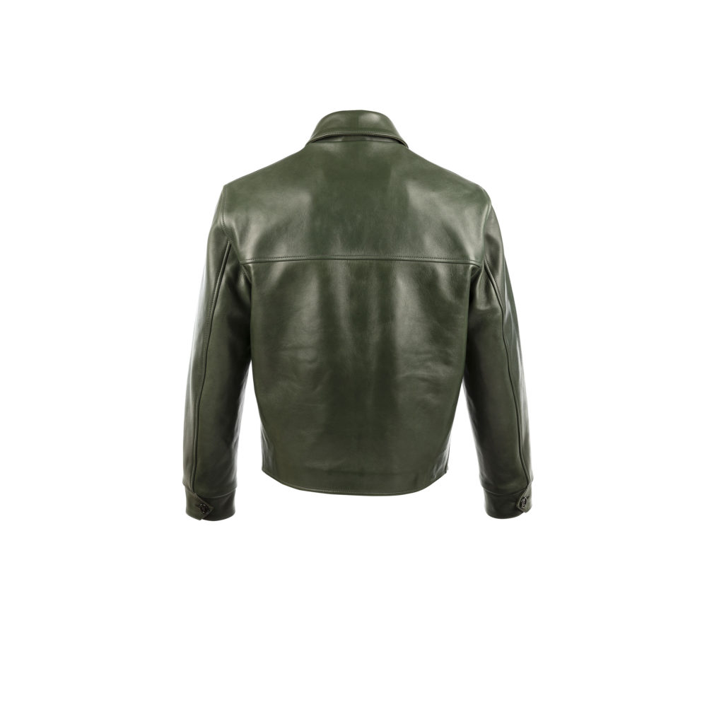 Blouson Sport Jacket - Glossy leather - Green color