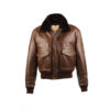 USAAF Jacket - Glossy leather - Brown color