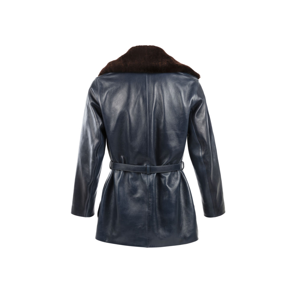 1914 Vest - Glossy leather - Blue color