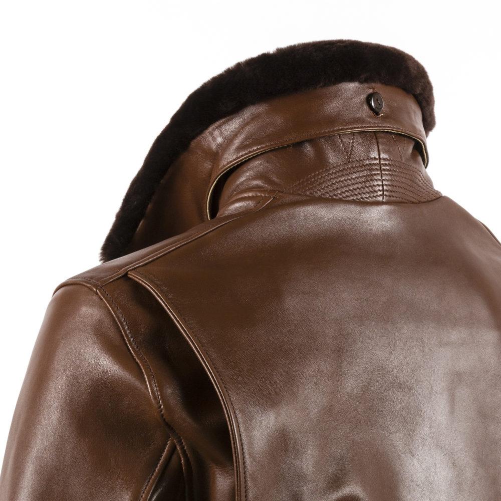 Blouson USAAF - Cuir glacé - Couleur brun