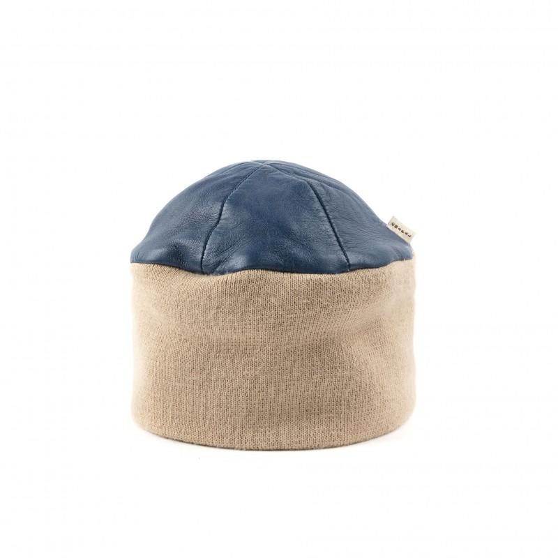Bonnet Cuir Glacé Bleu