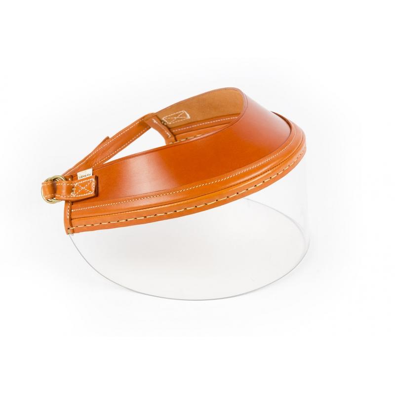 Visière Cuir Glacé Orange