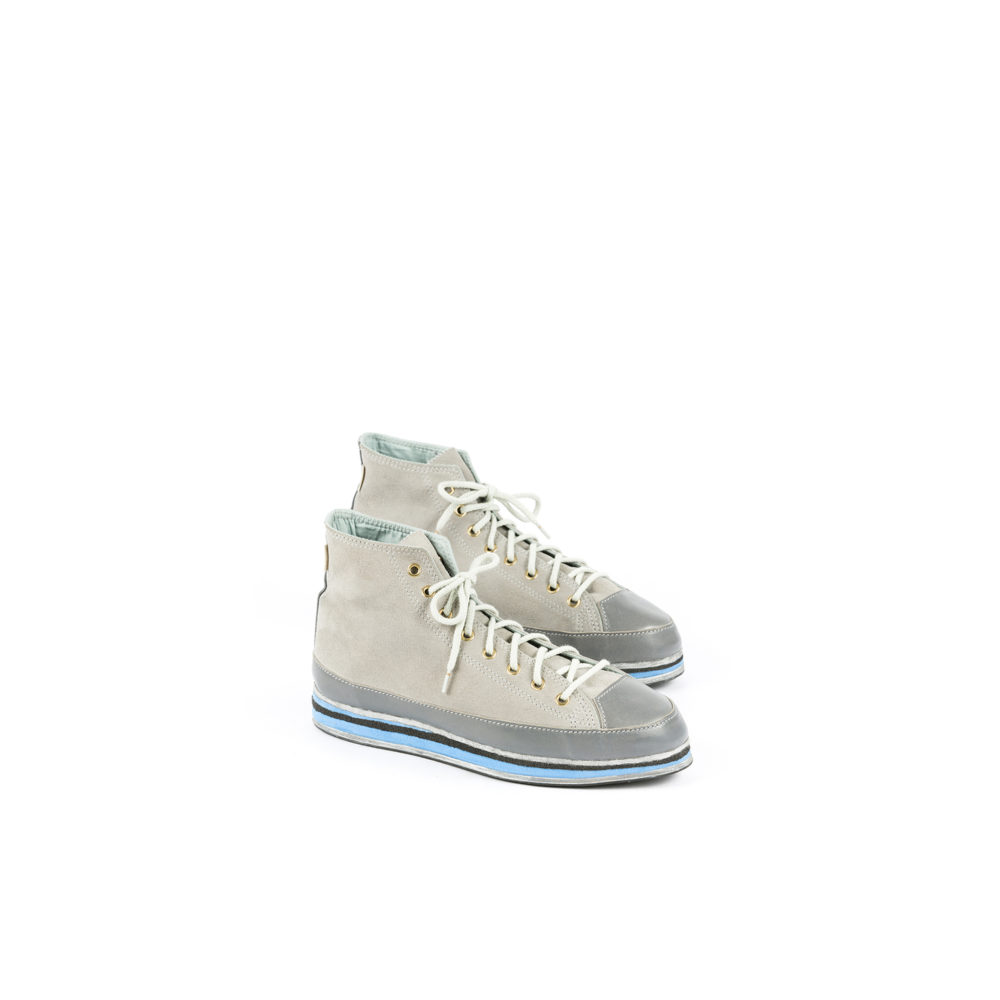 Baskets UP - Cuir velours - Couleur gris