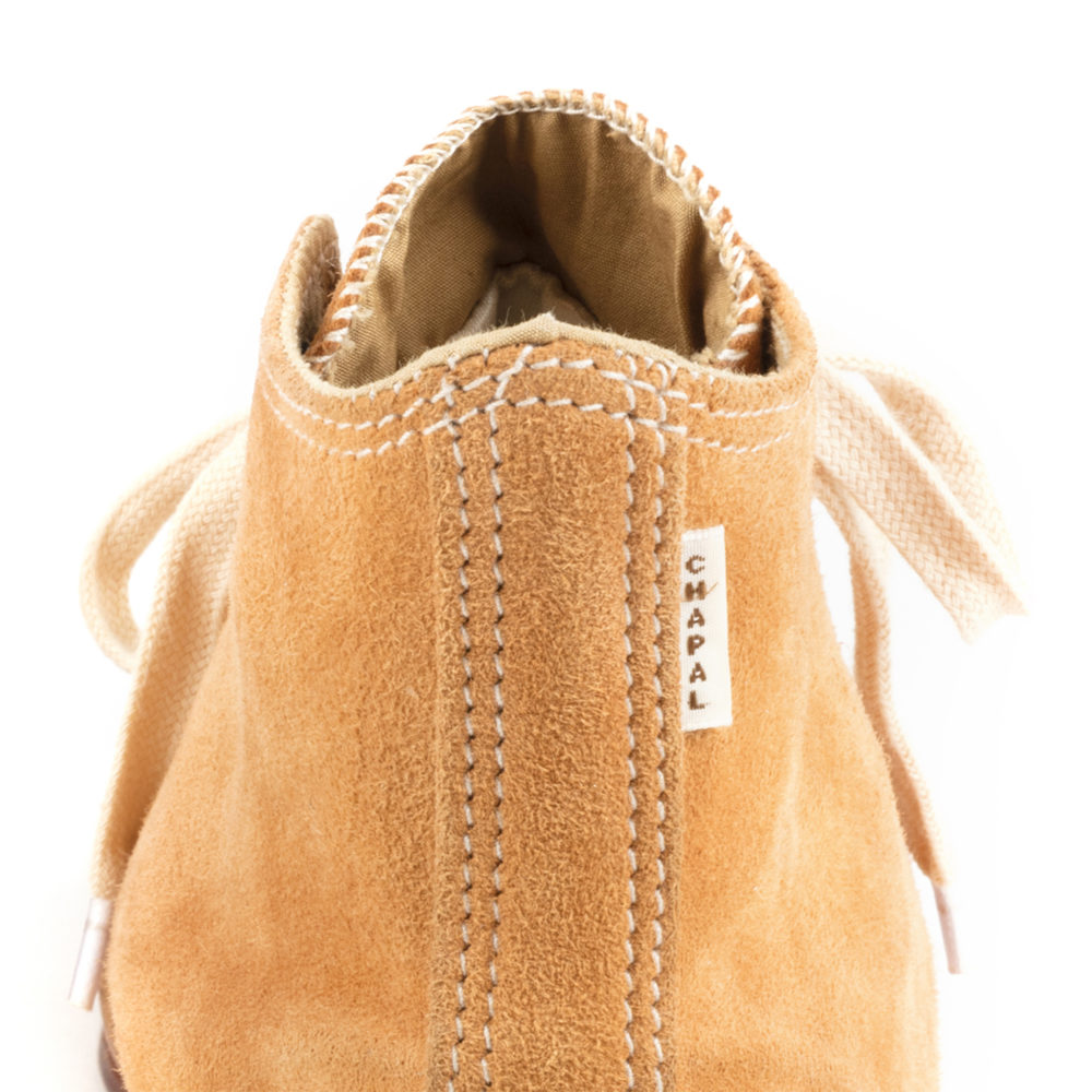 High Sneakers - Suede leather - Tan color