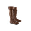 Pilot 60's Boots - Glossy leather - Brown color
