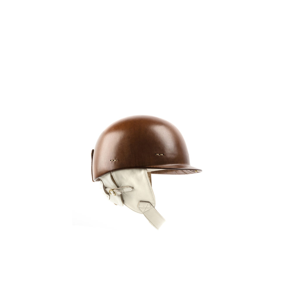 1950 Helmet - Leather covered