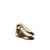 Pilot 60's Shoes - Glossy leather - Brown and ecru colors