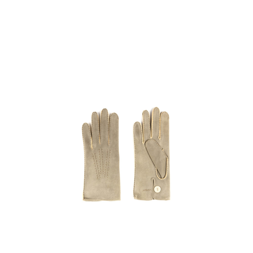 Rivoli Gloves - Suede kid leather - Grey color