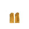 Saumur Gloves - Lamb suede leather - Yellow color