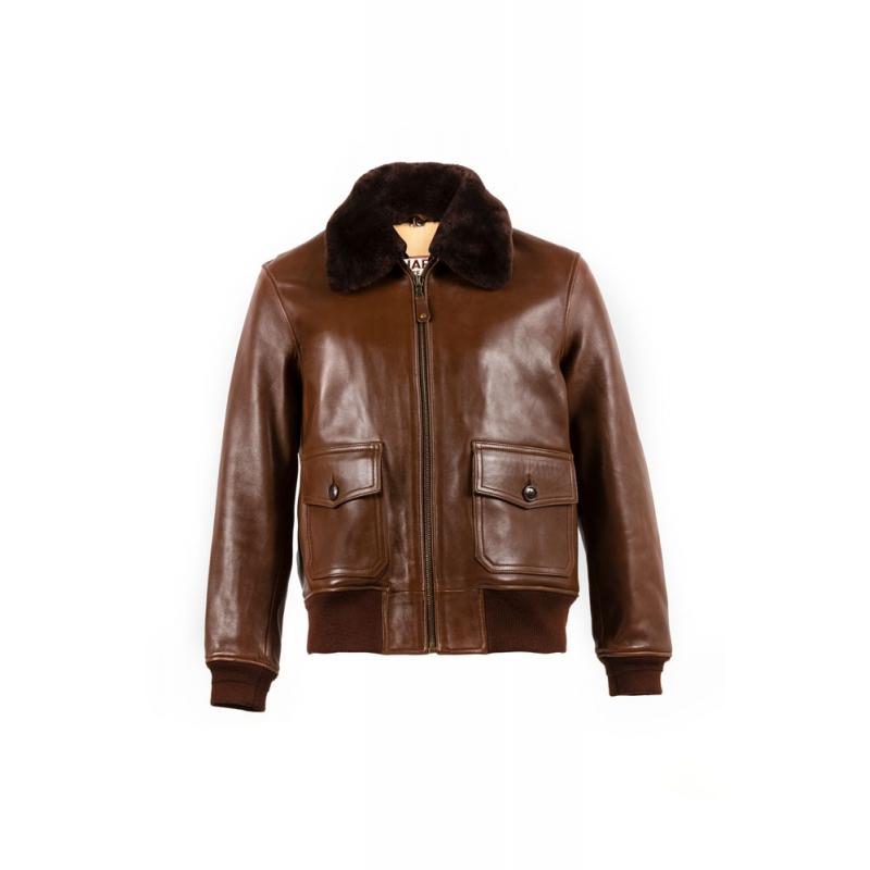 G1 cuir glacé brun