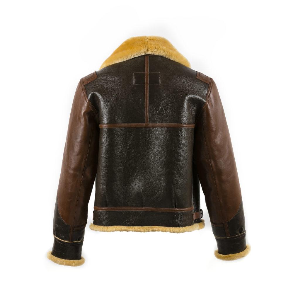 B3 Jacket - Varnished shearling - Gold color