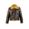 B3 Jacket - Varnished shearling - Gold color