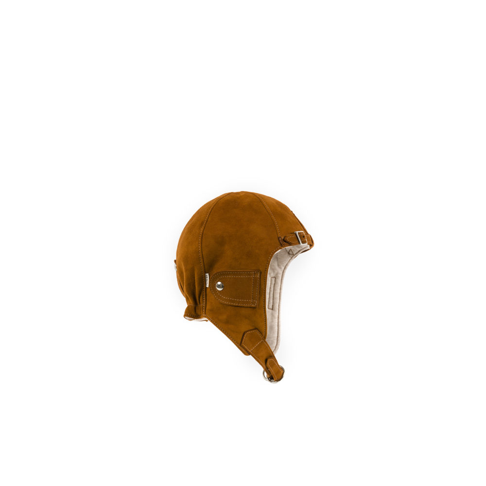 Driver Helmet - Suede leather - Suzy color