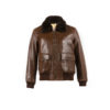 G1 jacket - Glossy leather - Brown color