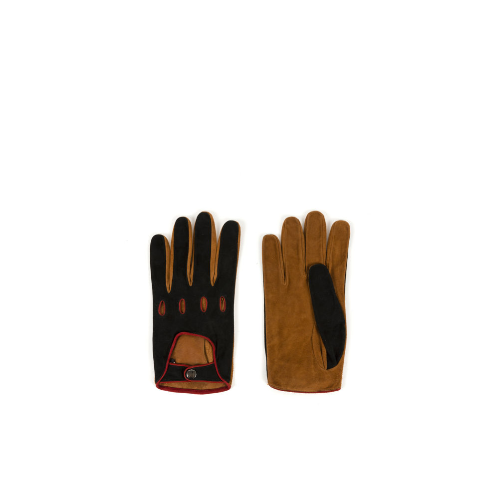 Sport Gloves - Lamb suede leather - Red color
