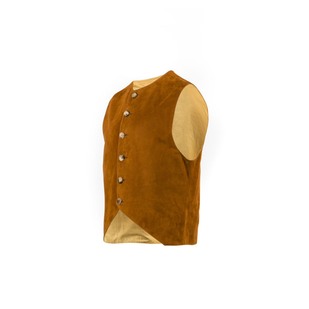 Nuvolari Vest - Suede leather - Suzy color