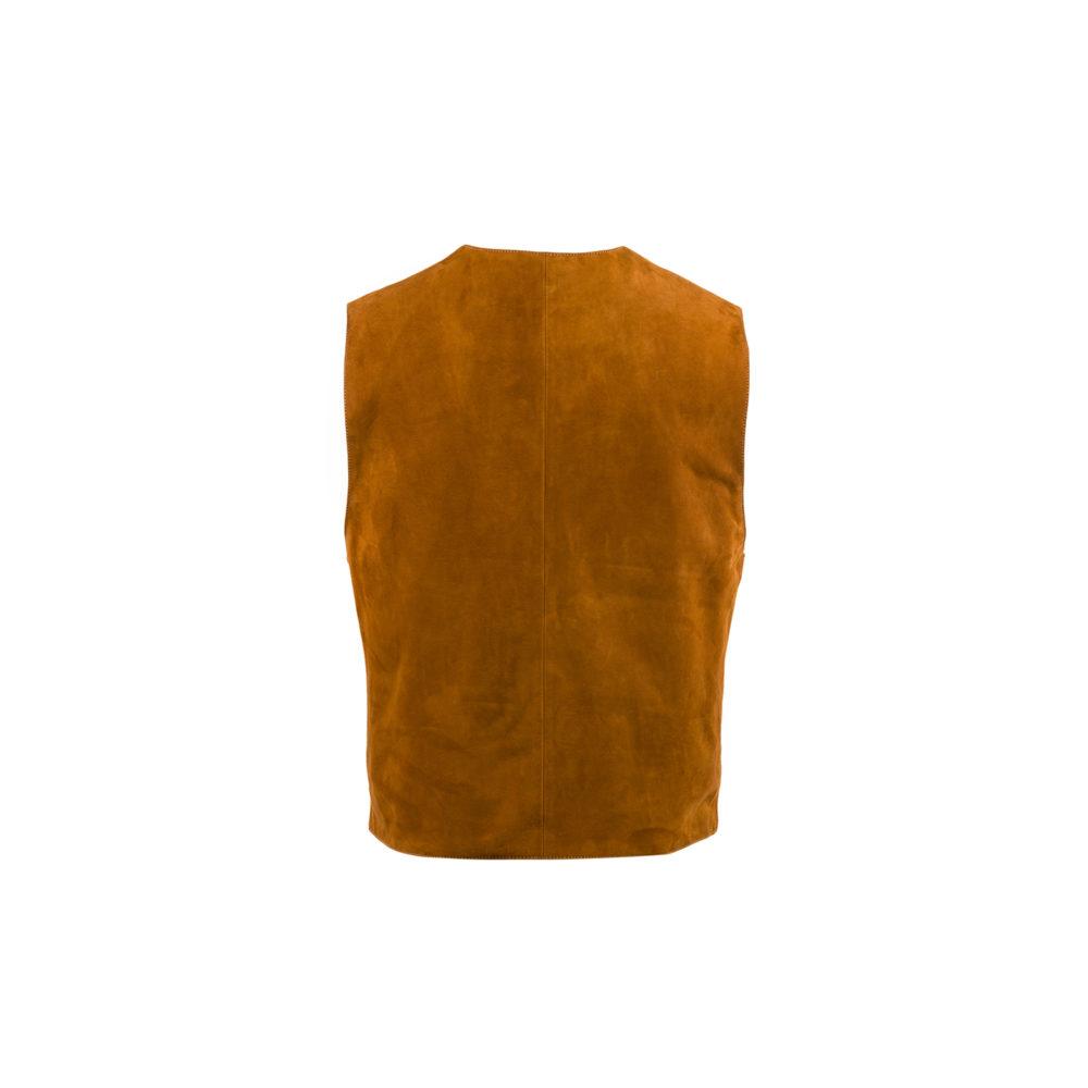 Nuvolari Vest - Suede leather - Suzy color
