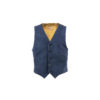 Waistcoat - Suede leather - Blue color