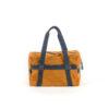 Sac Souple Medium - Cuir velours - Couleurs orange et bleu