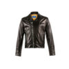 Brooklyn Notch Jacket - Dipped leather - Black color