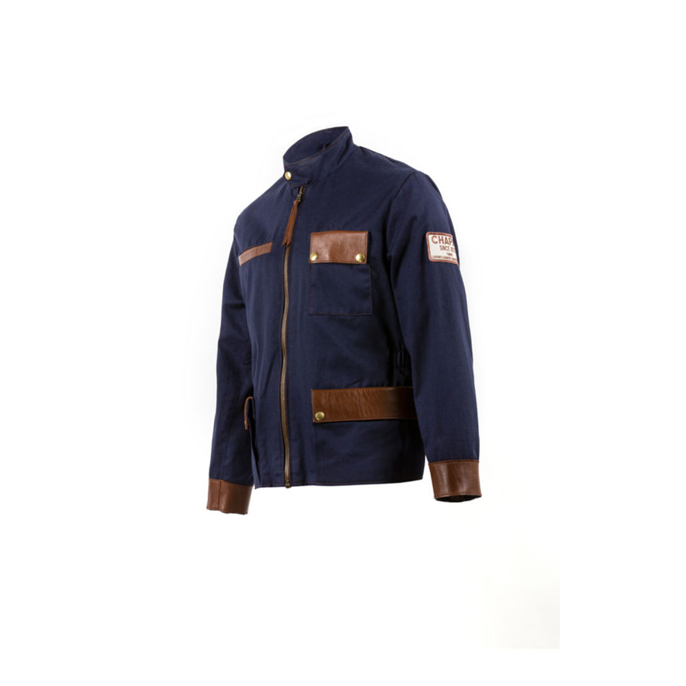 Pebble Beach Jacket - Cotton gabardine - Blue color