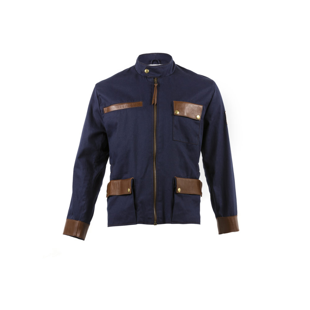 Veste Pebble Beach - Gabardine de coton - Couleur bleu