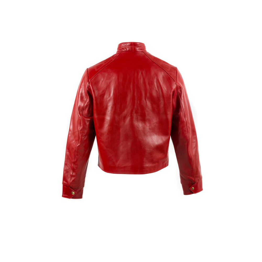 Portobello Jacket - Glossy leather - Red color