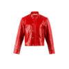 Portobello Jacket - Glossy leather - Red color