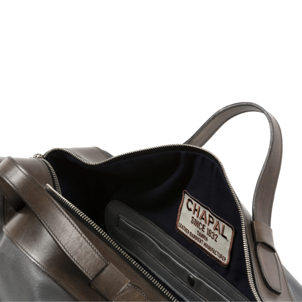 Sac Roppongi - Cuir glacé - Couleur anthracite