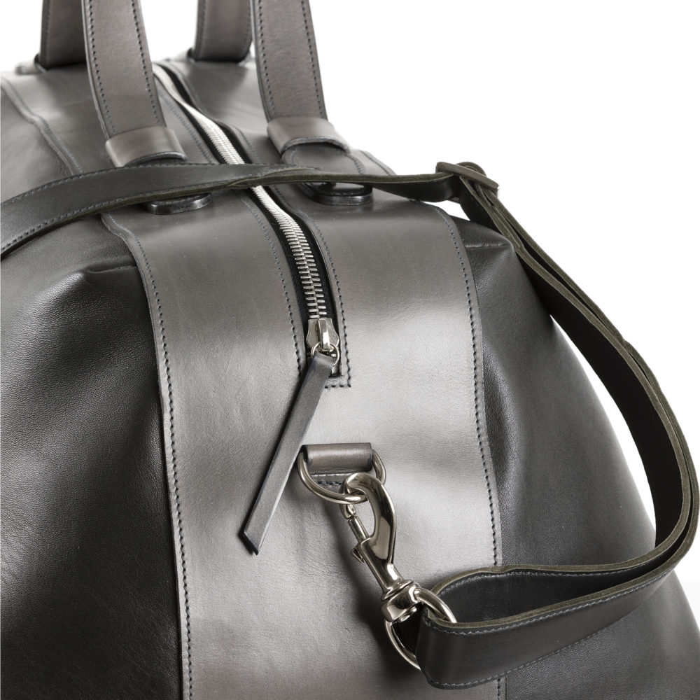 Roppongi Bag - Glossy leather - Charcoal grey color