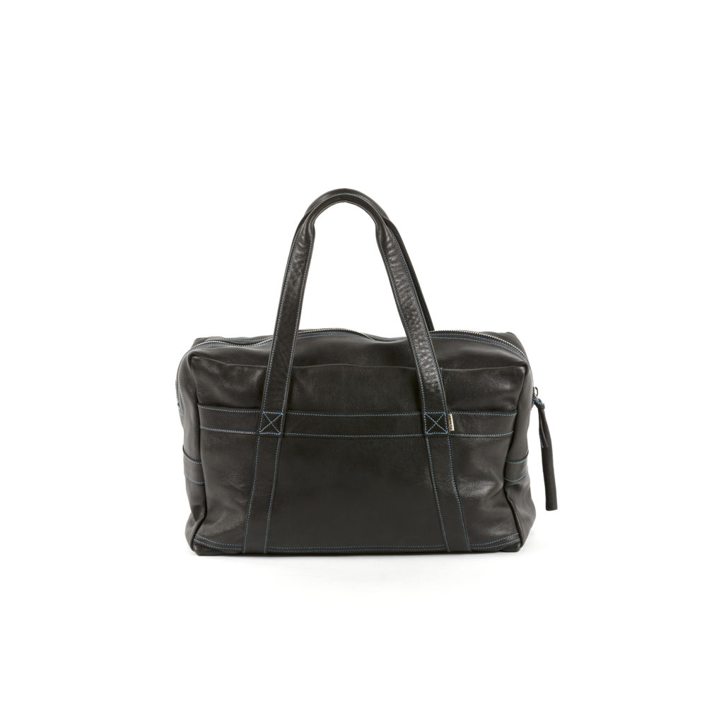 Medium Soft Bag - Glossy leather - Black color