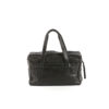 Medium Soft Bag - Glossy leather - Black color