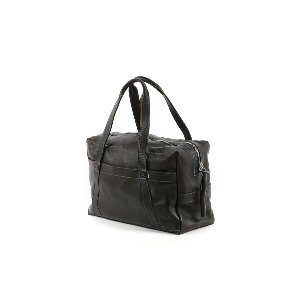 Soft Bag - Glossy leather - Black color