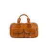 Medium Travel Bag - Glossy leather - Orange color