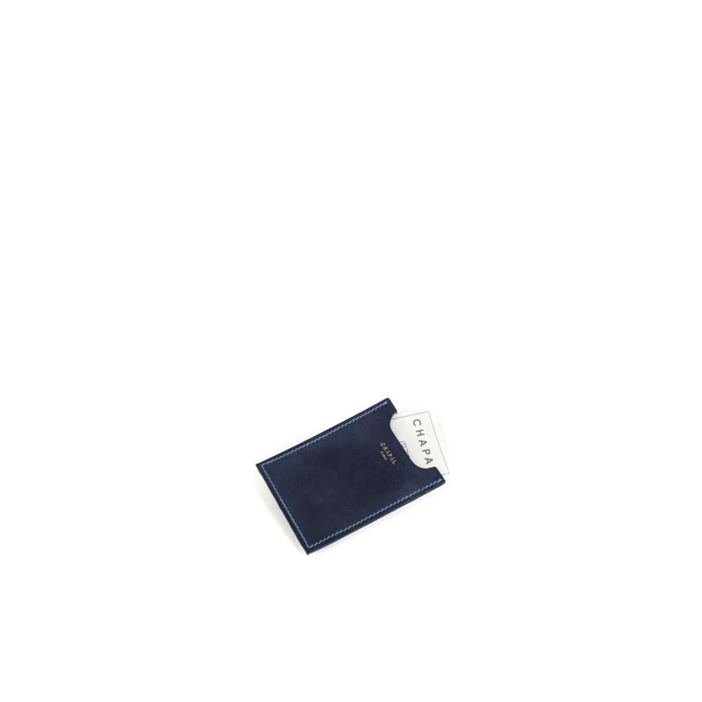 Card Holder - Vegetable tanned leather - Blue color